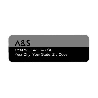 Modern Black Return Address Labels