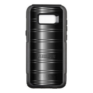 Modern Black Shiny Stripes OtterBox Commuter Samsung Galaxy S8+ Case