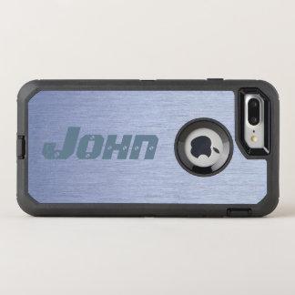 Modern Black & Stainless Steel Look OtterBox Defender iPhone 8 Plus/7 Plus Case