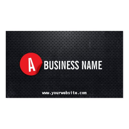 Modern Black Steel Bodybuilding Business Card