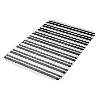 Modern-Black-Stripe-Kitchen--Bath-Bed-RUGS-S-M-L Bath Mat