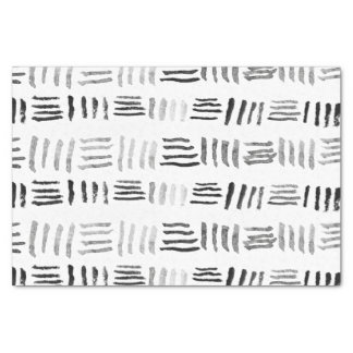 Modern black watercolor original geometric pattern tissue paper