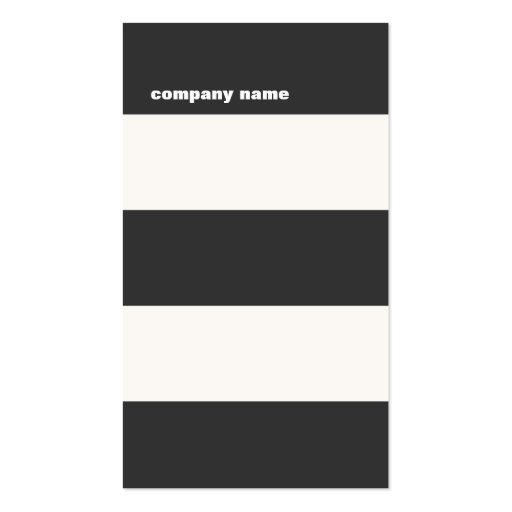 Modern Black White and Red Striped Business Card