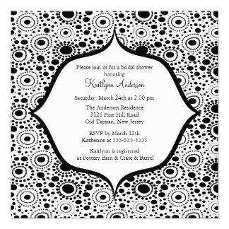 Modern Black White Bridal Shower Invitation