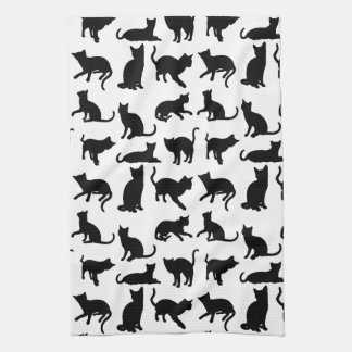Modern Black & White Cats/Kittens Kitchen Towel
