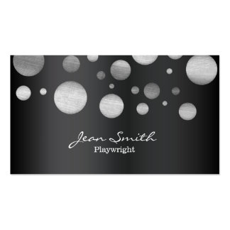 Modern Black & White Dots Playwright Pack Of Standard Business Cards