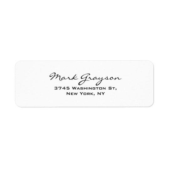 Modern Black & White Handwriting Plain Elegant
