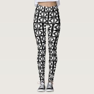 Modern Black & White Harlequin Design Leggings