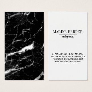 Modern Black & White Marble Template Business Card