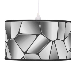 Modern black white pendant lamp