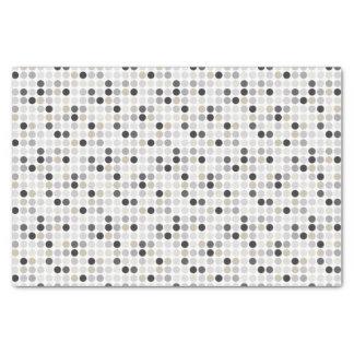 Modern black white polka dots pattern monogram tissue paper
