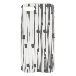 Modern black white stripes dots squares pattern iPhone 8/7 case