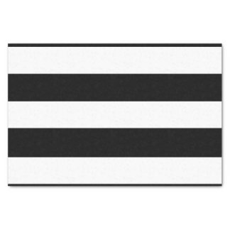 Modern Black White Stripes Pattern Tissue Paper
