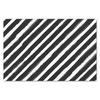 Modern Black & White Stripes Trendy Birthday Party Tissue Paper