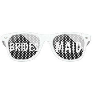 Modern black white triangles colorblock Bridesmaid Retro Sunglasses