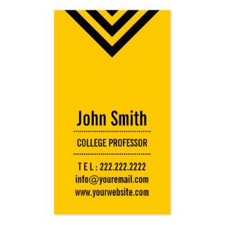 Modern Black & Yellow Professor Business Card