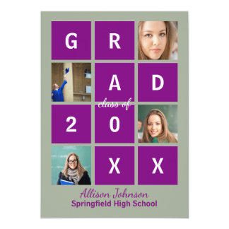 Modern Block Letters & Photo - Grad Announcement