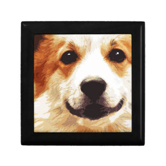 modern blown Welsh Corgi Gift Box