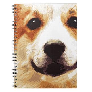 modern blown Welsh Corgi Notebook