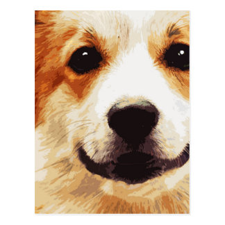 modern blown Welsh Corgi Postcard