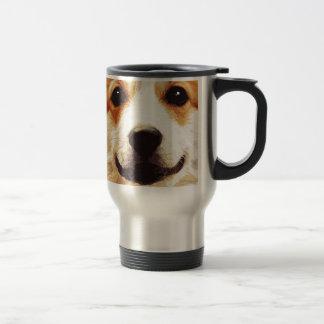 modern blown Welsh Corgi Travel Mug