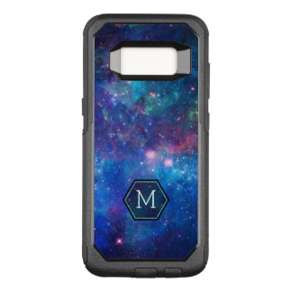 Modern Blue Abstract Night Sky Stars & Sparkles OtterBox Commuter Samsung Galaxy S8 Case