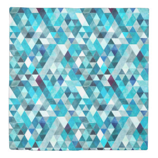 Modern Blue Abstract Pattern Duvet Cover