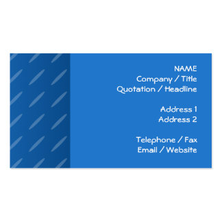 Modern Blue Abstract. Thin Ovals Pattern. Business Card Templates