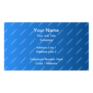 Modern Blue Abstract. Thin Ovals Pattern. Business Cards