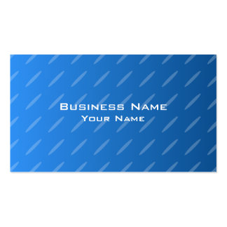 Modern Blue Abstract. Thin Ovals Pattern. Business Card Template