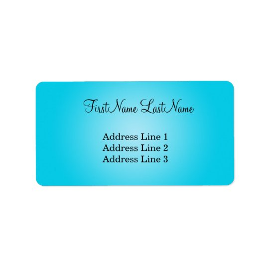 Modern Blue Address Label