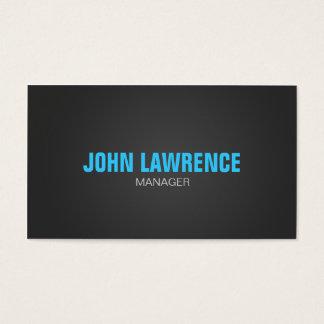 Modern Blue and Dark Gray Business Card