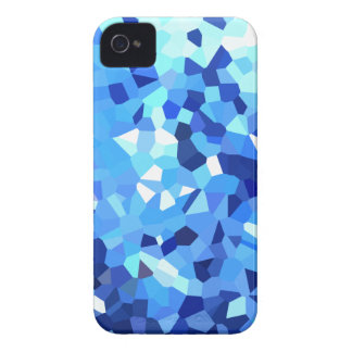 Modern Blue and White Stained Glass Mosaic Case-Mate iPhone 4 Case
