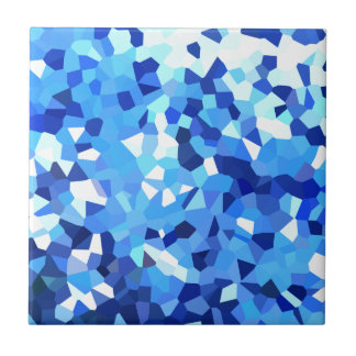 Modern Blue and White Stained Glass Mosaic Tile