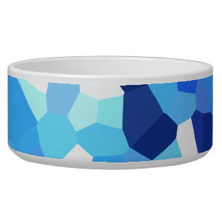 Modern Blue and White Stained Glass Ocean Mosaic