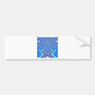 Modern Blue art Bumper Sticker