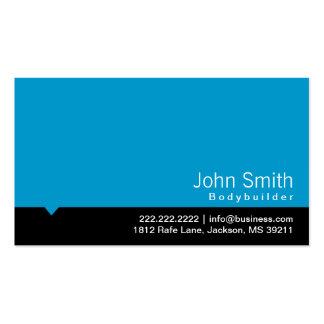 Modern Blue Bodybuilding Business Card