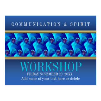 Modern Blue Business Workshop Invitation template Postcard