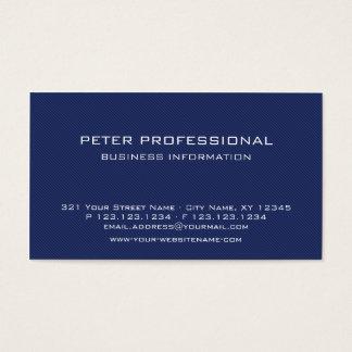 Modern Blue Carbon Fibre Photo Business Card