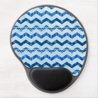 Modern Blue Chevron Pattern Gel Mouse Pad