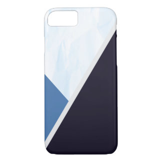 Modern Blue Colors Geometric Triangles iPhone 8/7 Case