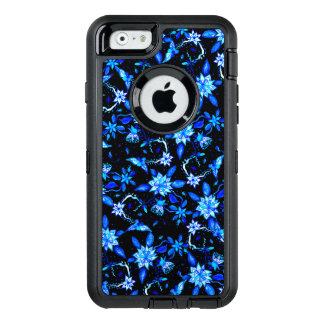 Modern blue floral paisley watercolor pattern OtterBox iPhone 6/6s case