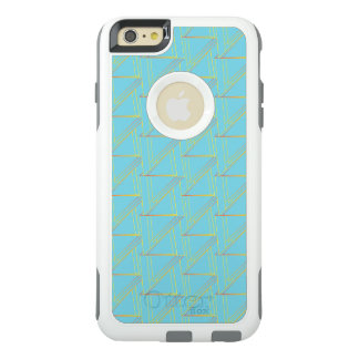 Modern Blue Geometric Pattern OtterBox  Defender OtterBox iPhone 6/6s Plus Case