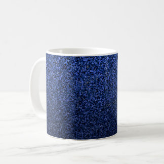 Modern Blue Glitter Coffee Mug