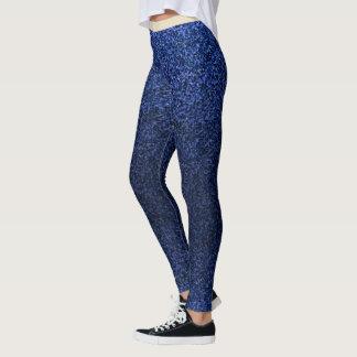 Modern Blue Glitter Design Leggings