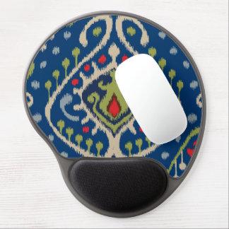 Modern blue green ikat tribal pattern gel mouse pad