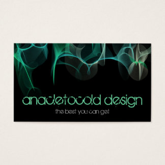 modern blue green smoke bussiness card