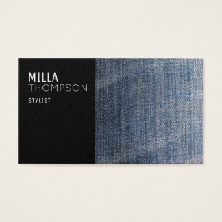 modern blue jeans business card for a stylist