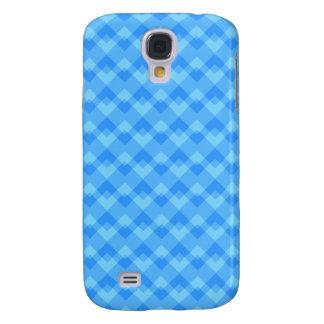 Modern Blue Pern. Galaxy S4 Cases