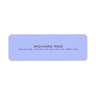 Modern Blue Professional Return Address Label